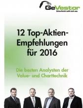 12 Top-Aktien Empfehlungen für 2016