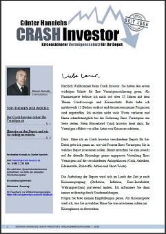 Wochenausgabe des Crash Investor (immer sonntags)