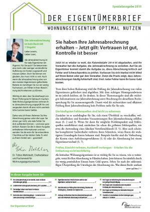 Spezial-Report Jahresabrechnung in der WEG
